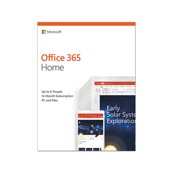 PHẦN MỀM MICROSOFT OFFICE 365 HOME ENGLISH 1YR P4 6GQ-00968