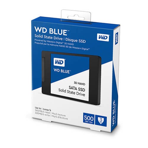 Ổ cứng SSD WD Blue 3D NAND 500GB Sata 2.5