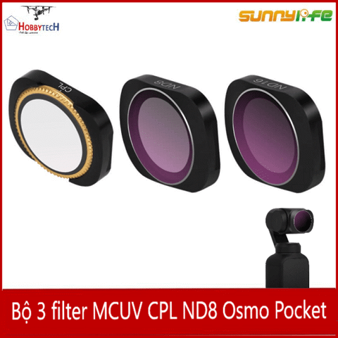 Combo 3 filter MCUV CPL ND8 DJI Osmo Pocket