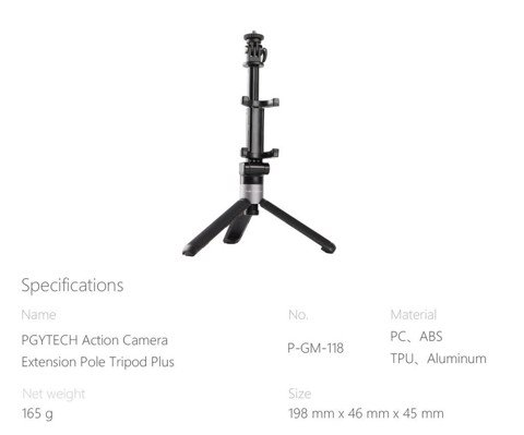 Gậy rút tripod mini Osmo Action camera – Plus