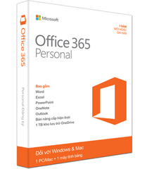 Phần mềm Office 365 Personal  32bit/64 English Subscr