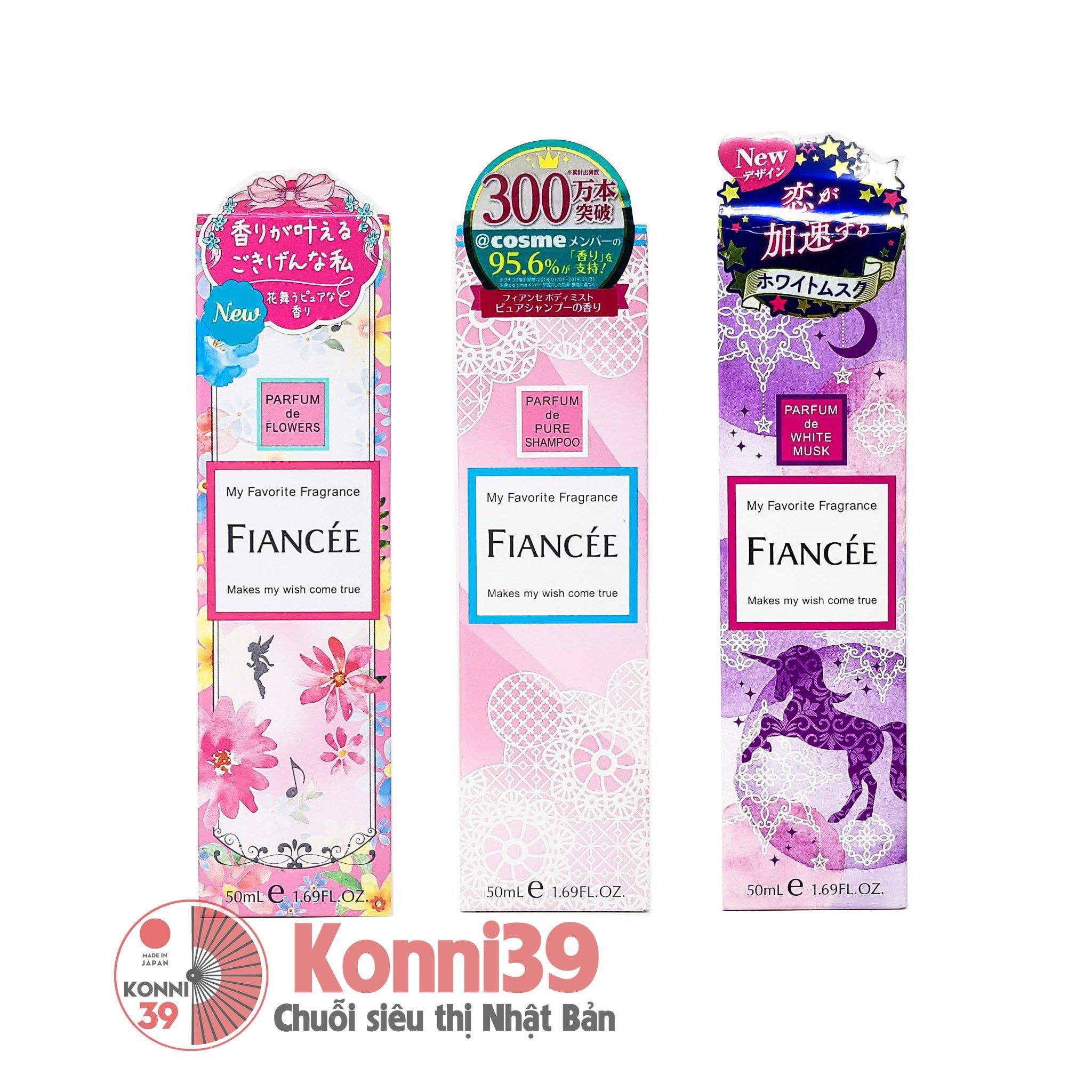 Nước hoa xịt toàn thân Fiancee Parfurm 50ml (3 Loại)