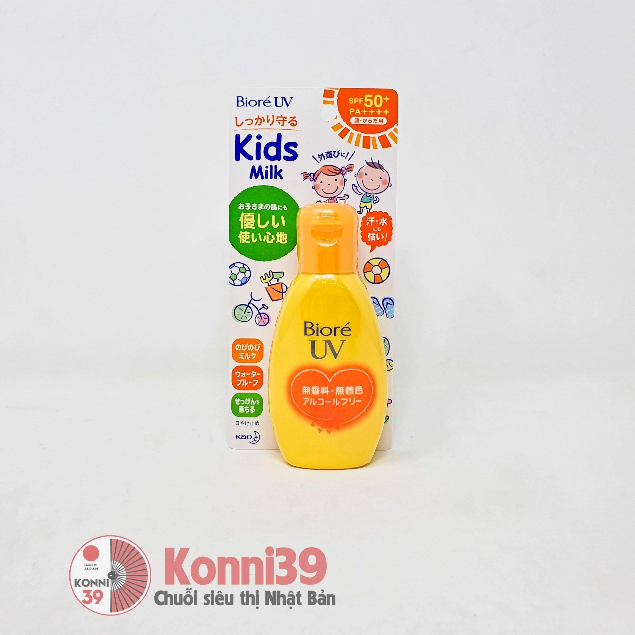 Kem chống nắng cho bé Biore UV Kids dạng sữa SPF50+PA++++ 90ml