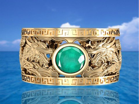 NHẪN SONGLONG EMERALD
