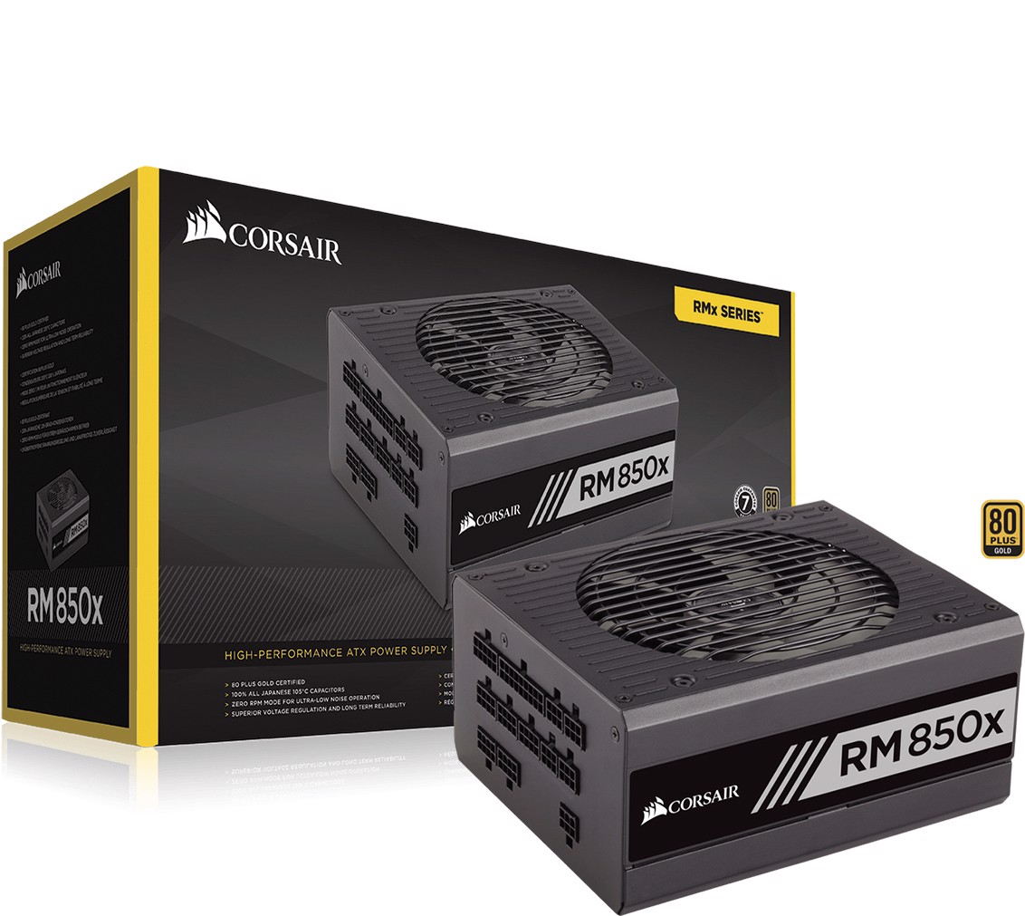 nguon corsair rm850x 80 plus gold 850w gold modular