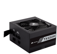nguon corsair tx650m 80 plus gold 650w smodular