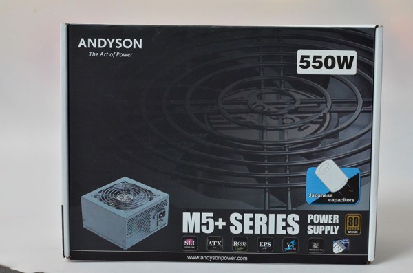 Andyson M5+ 550W 100% Japan Cap - Single Rail - 80 Plus Bronze PSU