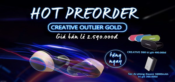 Tai nghe Truewireless Creative Outlier Gold