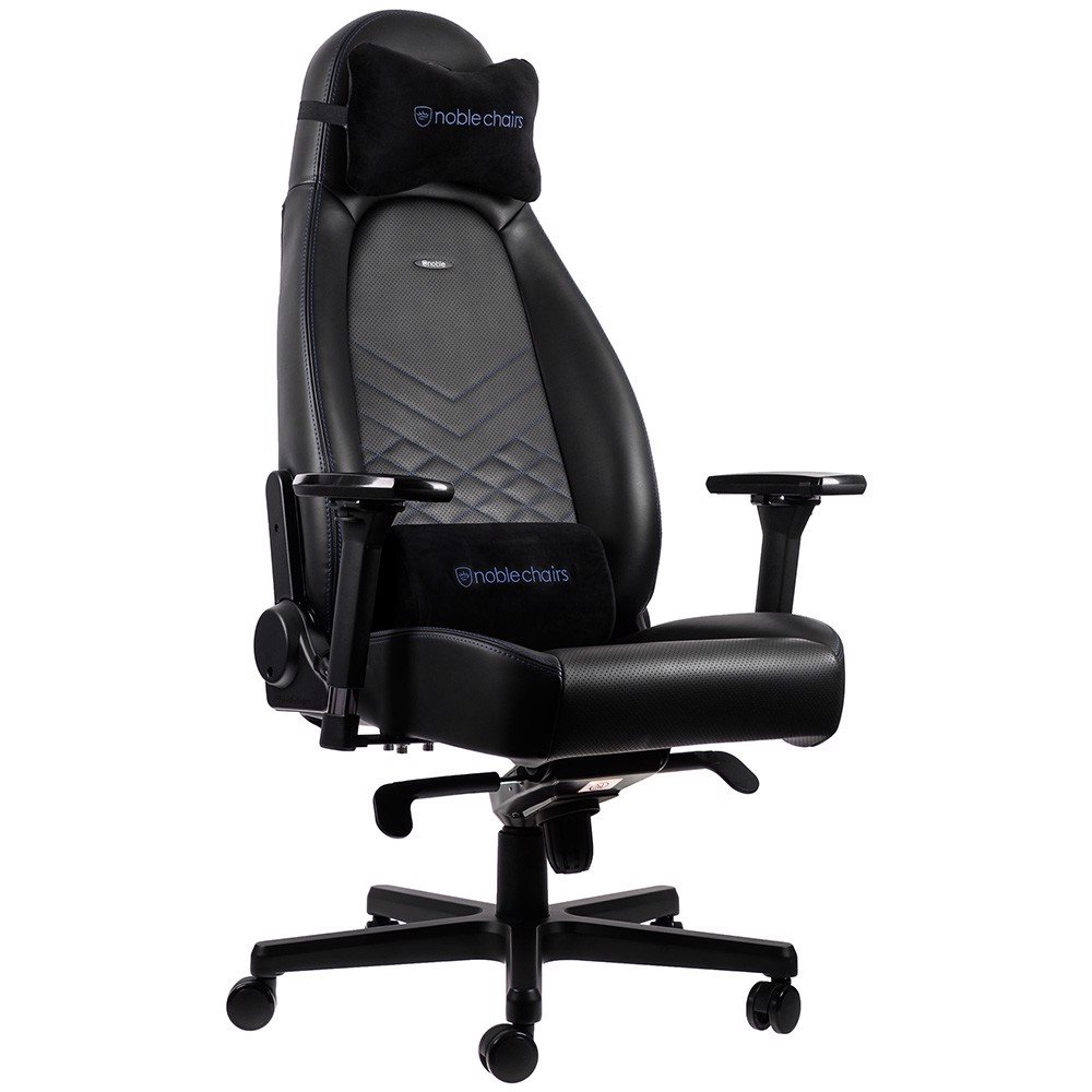 ghe gamer noble chair icon series black blue