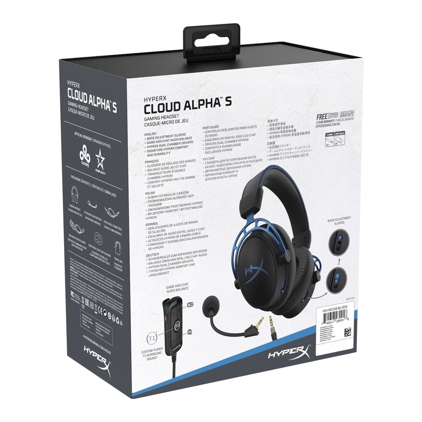 Tai nghe gaming HyperX Cloud Alpha S - Blue