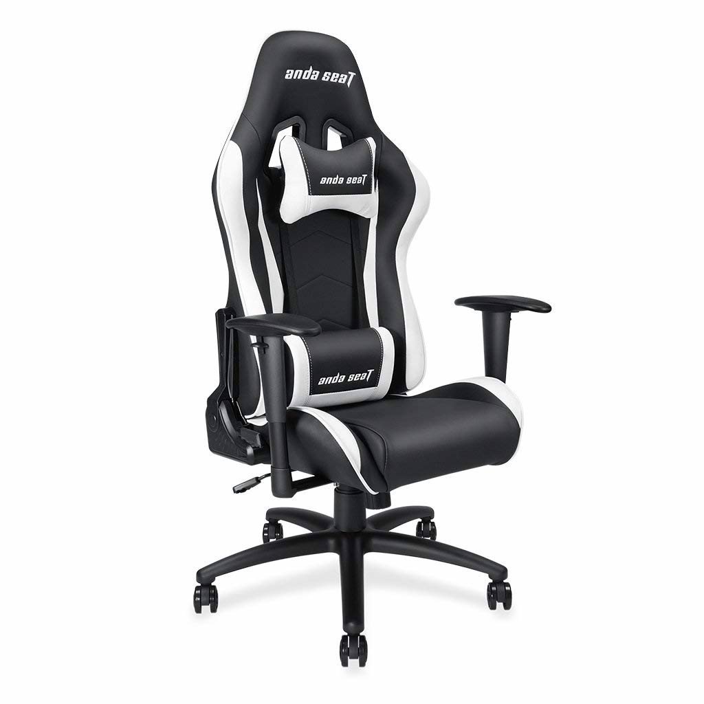Ghế Anda Seat Axe Black/White - Full PVC Leather 4D Armrest Gaming Chair