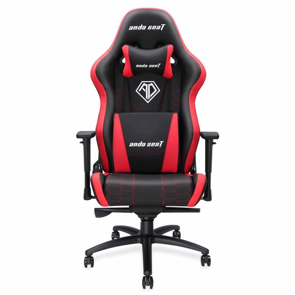 Ghế Anda Seat Spirit King Black/Red - Full PVC Leather 4D Armrest Gaming Chair