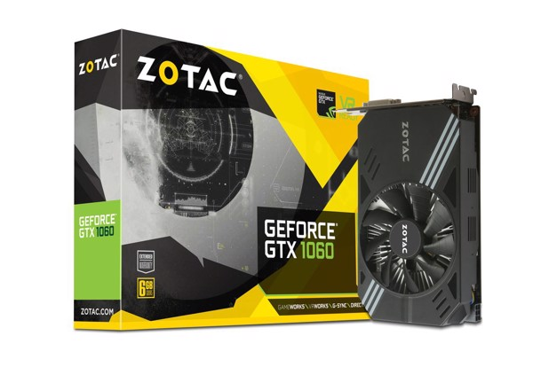VGA ZOTAC GeForce® GTX 1060 6GB Mini