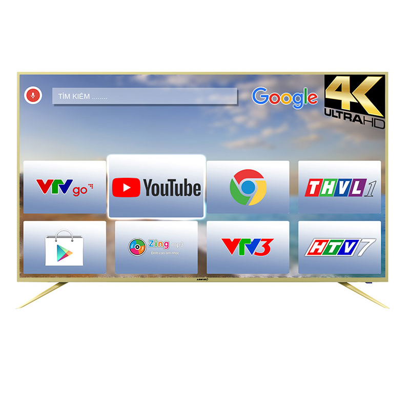 TIVI SMART 4K ASANZO VOICE SEARCH 50AU6100 (50 inch)