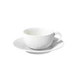 FLUTE - 250ML CUP AND SAUCER (WHITE)