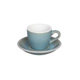 Egg 80ml Espresso Cup & Saucer (Potters Colors)