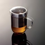 Pro Tea 450ml Glass Mug with Infuser & Lid (Clear)