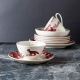 A CURIOUS TOILE - 13.5CM CEREAL BOWL (RED)