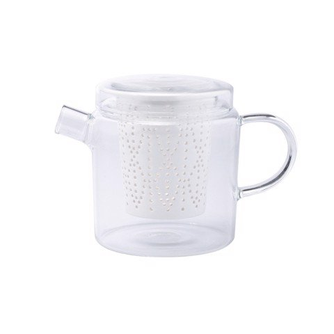 Weave 700ml Glass Teapot with Porcelain Infuser (Clear)
