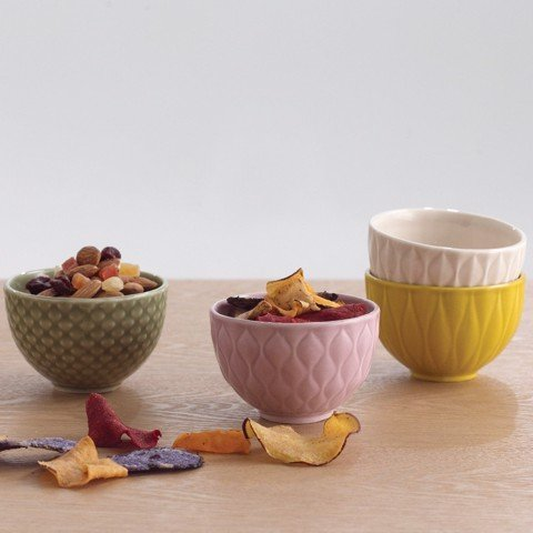 Weave - Set of 4 Textured Bowls (Stay Warm)