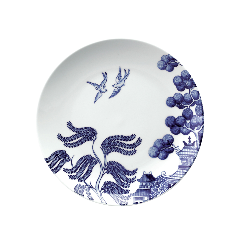 WILLOW LOVE STORY - 21CM SALAD PLATE (BLUE)