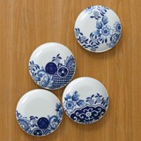 WILLOW LOVE STORY - SET OF 4 X 15CM SIDE PLATES (ASSORTED)