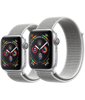 Apple Watch Series 4 Silver Aluminium Case with Seashell Sport Loop