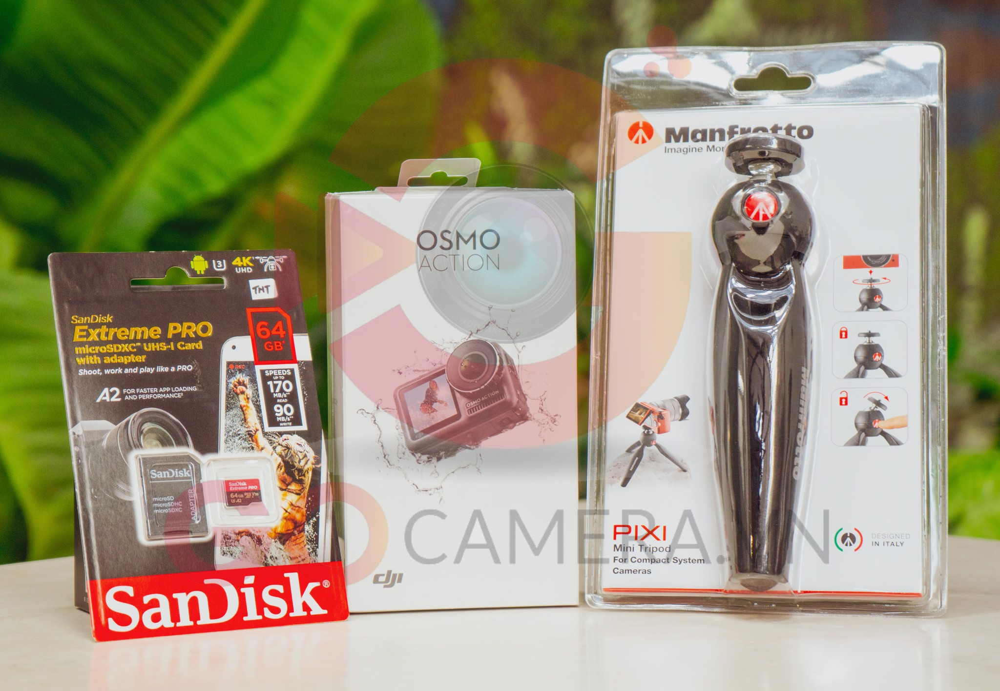 COMBO Osmo Action + gậy Tripod Manfrotto + Thẻ nhớ 64G