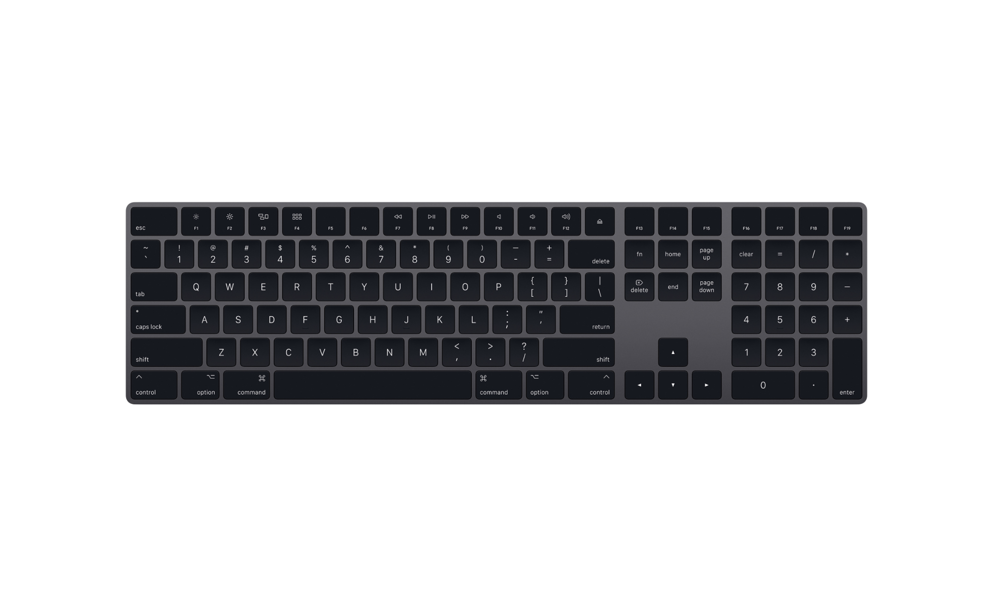Magic Keyboard with Numeric Keypad - US English - Space Gray