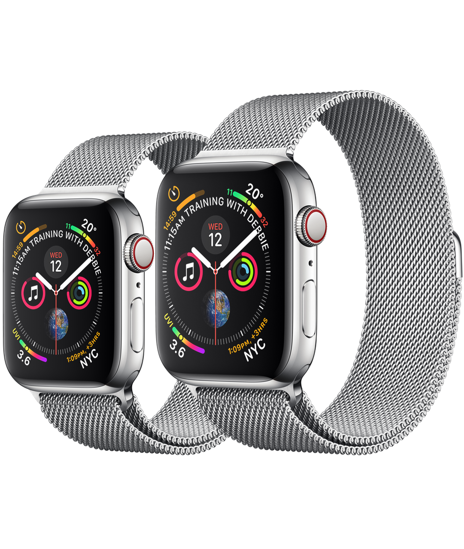 Apple Watch Series 4 GPS+Cellular Stainless Steel Case with Milanese Loop