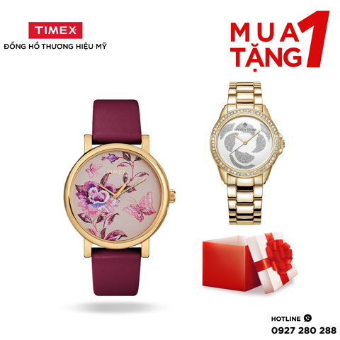 COMBO Full Bloom 38mm Gold-tone + Timothy Stone Women's KATY