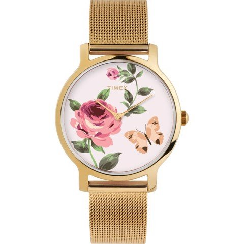 Full Bloom 34mm Gold-tone