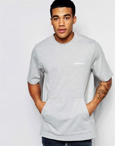 Originals Longline T-Shirt With Oversized Pouch AJ7583
