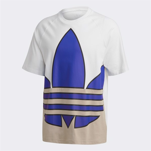 Big Trefoil Colorblock Tee - White GE6223
