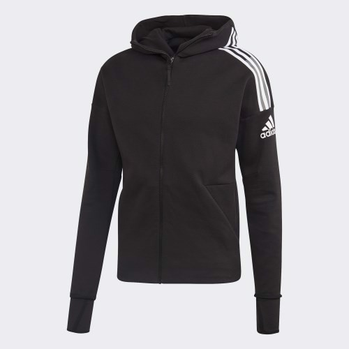 Z.N.E. 3-Stripes Hoodie Jacket - Black FQ7229