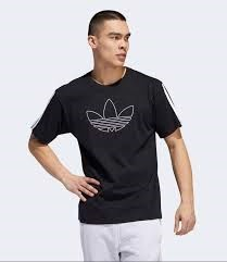 Outline Trefoil Tee Black ED6263