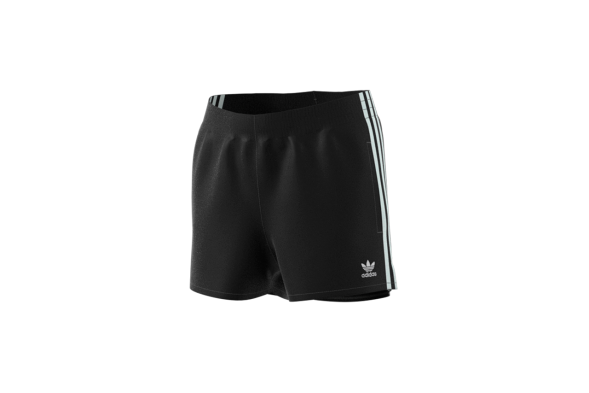 ADIDAS ORIGINALS SHORT BLACK WHITE 3 STRIPES-CY4763
