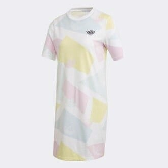 Graphic Dress - White/ Multicolor GK3676