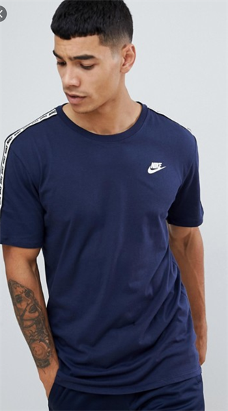 Nike Taping T-Shirt In Navy AR4915-451 ( Áo Nike Xanh Navy )