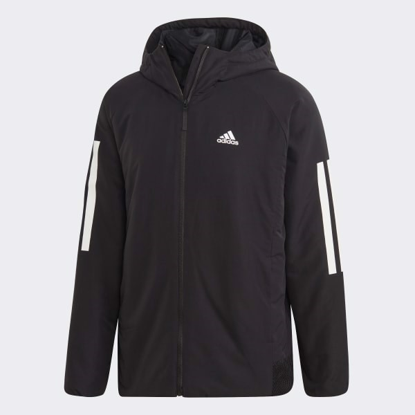 BTS 3-Stripes Hooded Winter Jacket - Black DZ1403