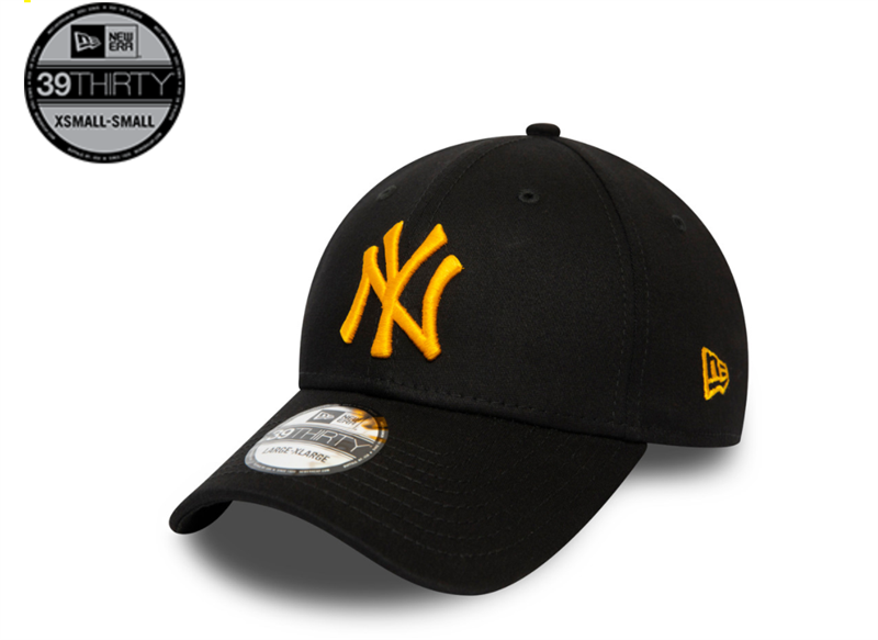 New York Yankees MLB League Essential Yellow Logo 39THIRTY Cap - Black 12490190