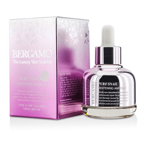 Bergamo The Luxury Skin Science Pure Snail Whitening Ampoule 30ml