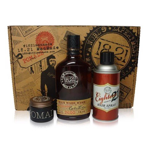[FREE SHIP] Bộ quà tặng 18.21 Man Made Wash 18oz, Pomade 2oz & Hair Spray 10oz | Sweet Tobacco
