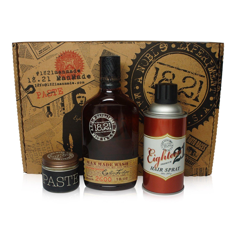 [FREE SHIP] Bộ quà tặng 18.21 Man Made 18oz, Paste 2oz & Hair Spray 10oz | Sweet Tobacco