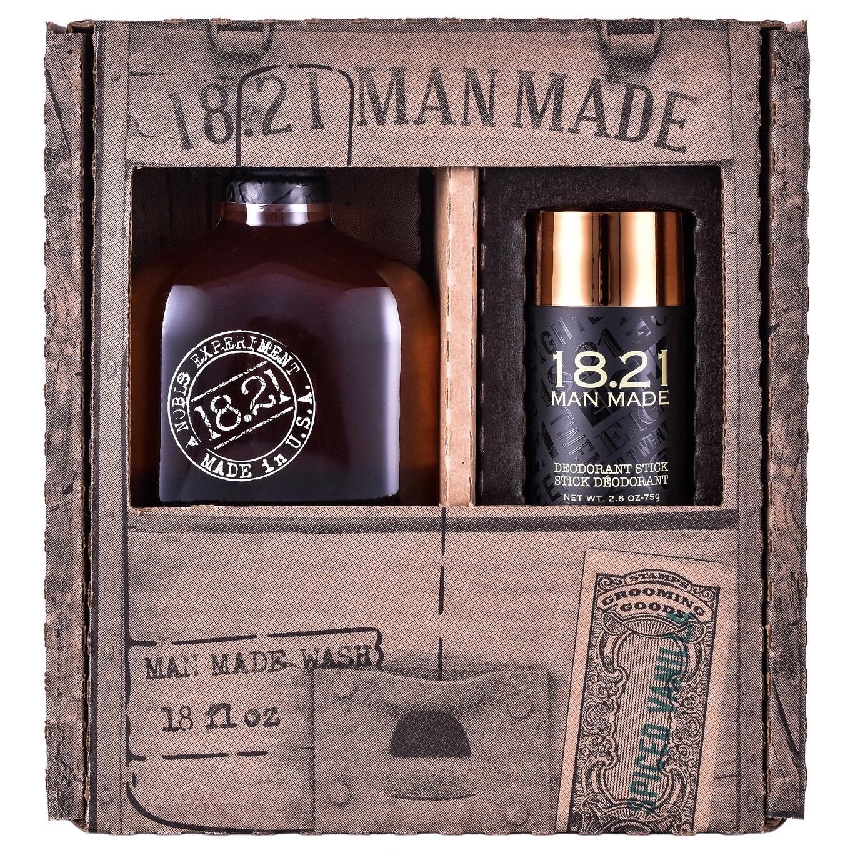 [ FREE SHIP ] Bộ quà tặng 18.21 Man Made Wash 18oz & Deodorant Stick | Spiced Vanilla