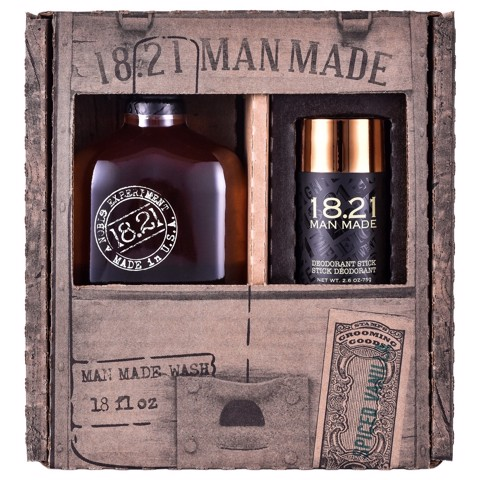 [ FREE SHIP ] Bộ quà tặng 18.21 Man Made Wash 18oz & Deodorant Stick | Spiced Vanilla