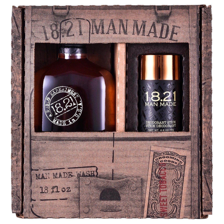 [ FREE SHIP ] Bộ quà tặng 18.21 Man Made Wash 18oz & Deodorant Stick | Sweet Tobacco