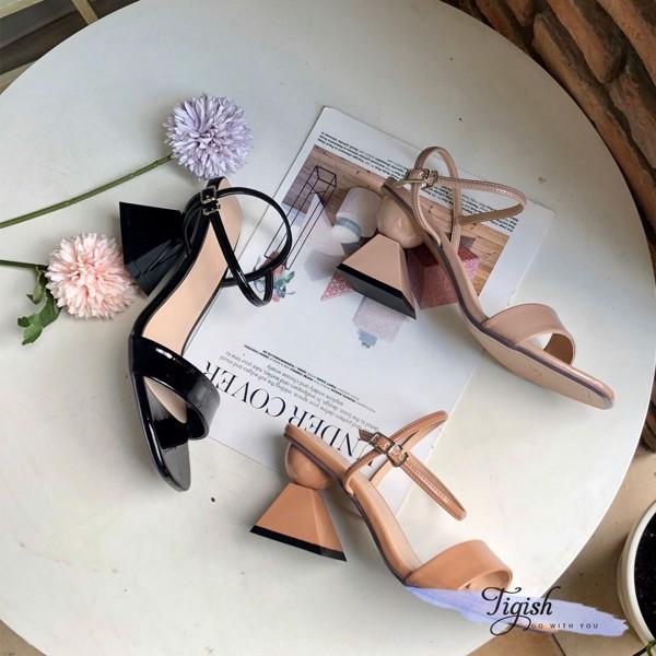 giày sandal gót thang bán cầu bảng ngang cực xinh