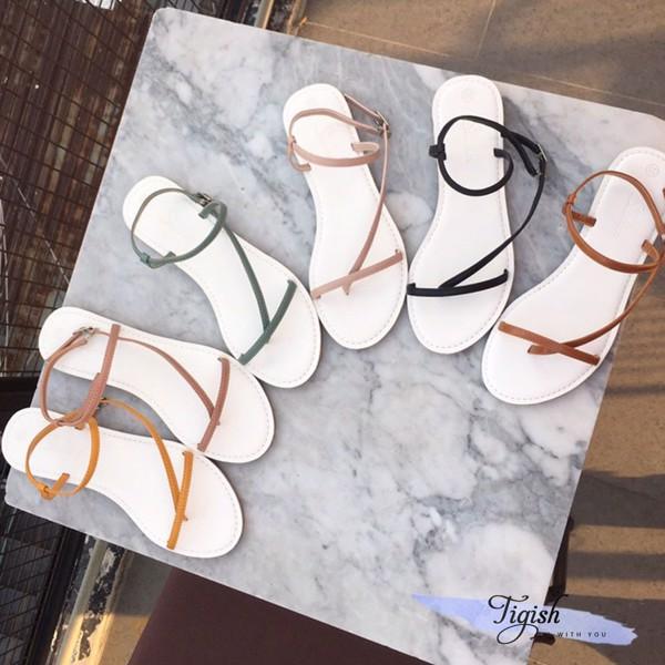 giày sandal quai xéo nhỏ xinh xắn