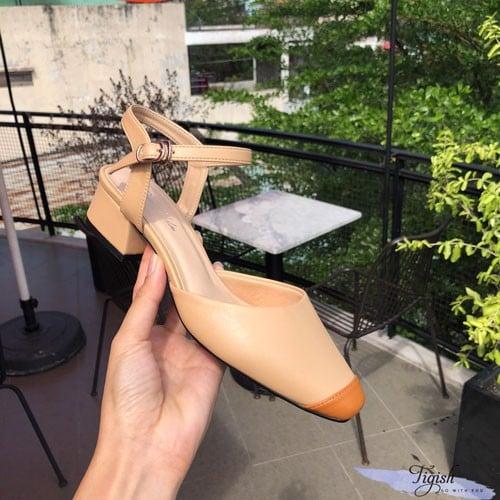giày cao gót mũi bò giá tốt